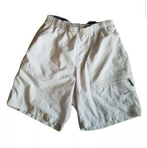 Nike Swim Trunks Mens Large Tan Board Shorts Bin17